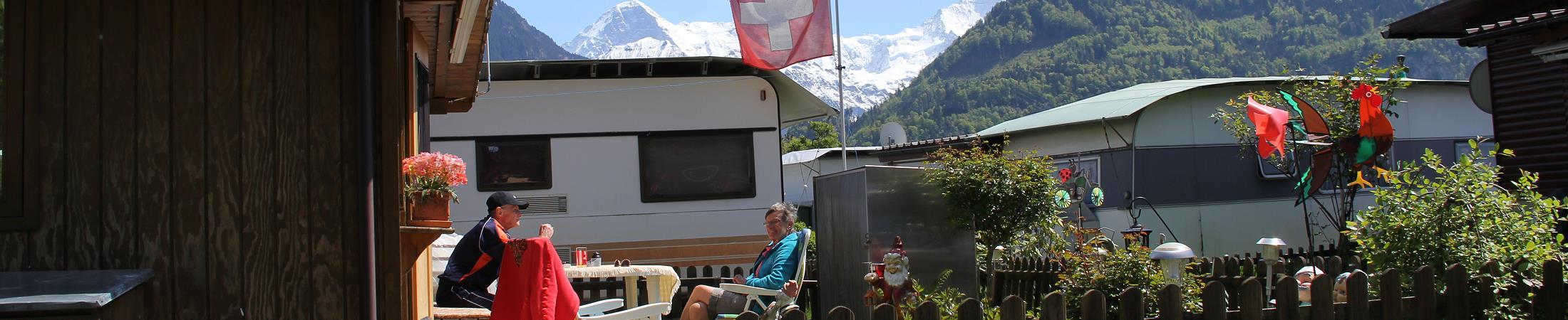 Residenzplätze Camping Lazy Rancho Unterseen Interlaken Berner Oberland Jungfrauregion