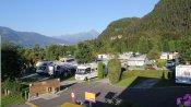 Blick auf das Campingareal